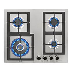 Cocina a Gas con 4 Quemadores de Acero Inoxidable de 58x50cm Teka