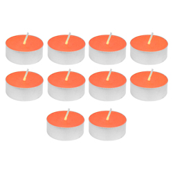 Vela Tealight Liso Naranja  con Aroma 10 Unidades