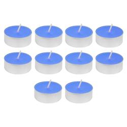 Vela Tealight Liso Celeste con Aroma 10 Unidades