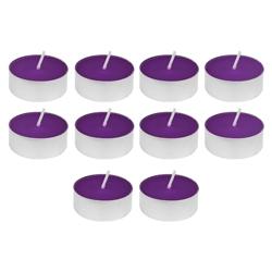 Vela Tealight Liso Morado con Aroma 10 Unidades