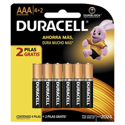 Pila Duracell AAA Blister x4 + 2 Gratis