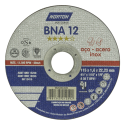 Disco de Corte Metal Norton 4-1/2X1/16X7/8 DC BNA 1