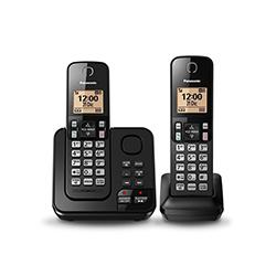 Teléfono Digital Inalámbrico con 2 Auriculares Panasonic