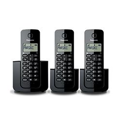 Teléfono Digital Inalámbrico con 3 Auriculares Panasonic