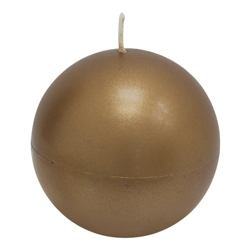 Vela Esfera Metalizada Cobre