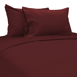 Sábana Burgundy Cotton Touch Chateau