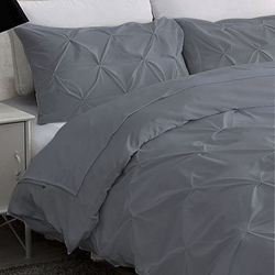 Duvet Cover Obira Gris Cotton Touch