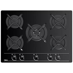 Cocina a Gas con 4 Quemadores +1 Triple Llama Vitrocerámica 70x51cm Teka