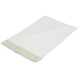 Toalla Blanca con Crema 55x35cm