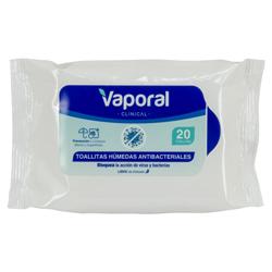 Toallitas Húmedas Antibacterial Vaporal 20 Unidades