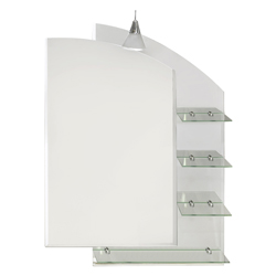 Espejo Vertical Con Repisa Triple