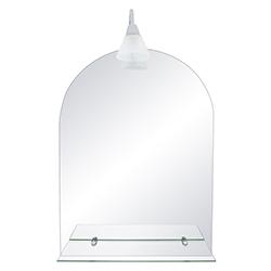 Espejo Vertical Con Repisa 1 Aplique