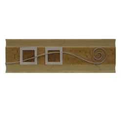 Listelo con Moderno Diseño Beige y Plata 9x30cm