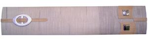Listelo Gris Beige C/Metal Resina 6x30cm