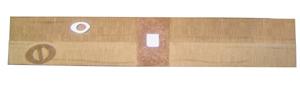 Listelo Beige / Plata Resina 5x30cm