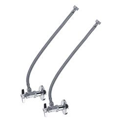 Conjunto Llaves Angulares Metálicas con Manguera Flexibles 16″ para Lavabo