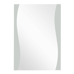 Espejo Vertical Con Lateral Onda