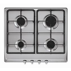 Cocina a Gas con 4 Quemadores de Acero Inoxidable  de 58x50  Teka
