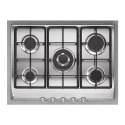 Cocina a Gas con 4 Quemadores + 1 Triple Llama de Acero Inoxidable de 86x50cm  Teka