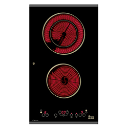 Cocina Eléctrica con 2 Quemadores  Vitrocerámica Touch  de 30x52cm Teka