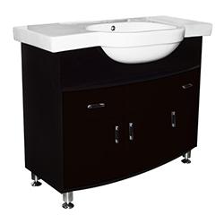 Mueble De Baño Café Con Lavamanos De Sobreponer 100x51cm
