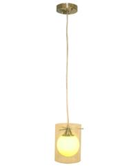 Lámpara colgante cilindro pequeño amarillo con 1 boquilla