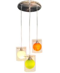 Lámpara colgante de 3 cilindros de varios colores