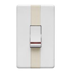 Interruptor Blanco con Luz Piloto Argento Lumicino