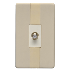 Toma Coaxial Beige Argento Lumicino