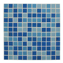 Mosaico de Vidrio Mix Azul 32.7x32.7cm (.107)