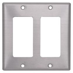 Placa Plástica en Aluminio 2 Módulo C/tornillos Decora