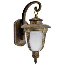 Lámpara Oro Negro de Pared para Exterior Zaga
