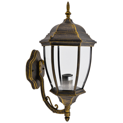 Lámpara de Pared Oro Negro para Exterior Quit
