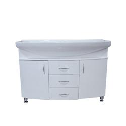Mueble De Baño Con Doble Lavamanos Color Blanco 120x50cm