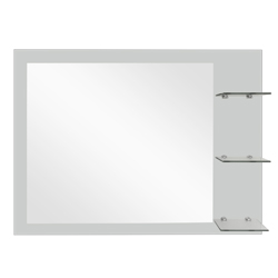 Espejo Arenado Con Repisa Triple Lateral