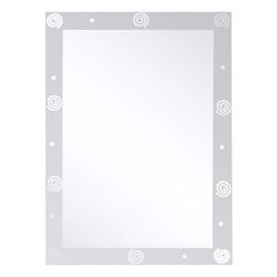 Espejo Con Bordes Arenados con Espirales