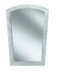 Espejo Curvo Con Bordes Arenados