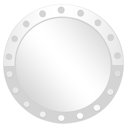 Espejo Con Bordes Con Círculos