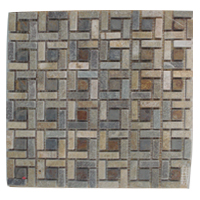 Mosaico de Piedra Cuadro Pequeño 30.5x30.5cm