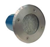 Reflector Inoxidable de Led para Exteriores 11cm de Diámetro x 13cm de Alto