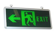 Letrero Luminoso Exit Una Vía