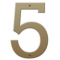 Números en Acabado Oro