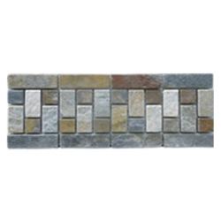 Listelo de Piedra Combinado Rectángulos 12x30cm