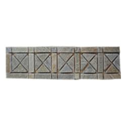 Listelo de Piedra Gris Beige Rombos 7x30.5cm