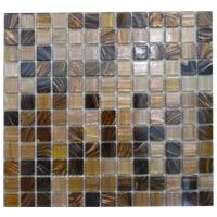 Mosaico de Vidrio Mix Café  32.7x32.7cm (.107)