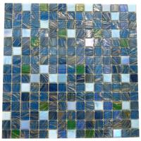 Mosaico  de Vidrio Mix Azul 32.7x32.7cm (.107).