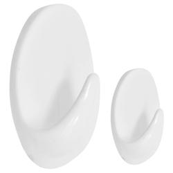 Gancho Autoadhesivo Oval Grande Pequeño Blanco