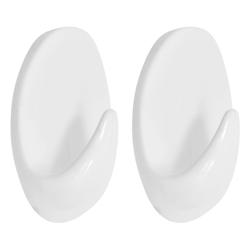 Gancho Autoadhesivo Oval Blanco