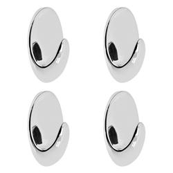 Gancho Autoadhesivo Oval Cromo