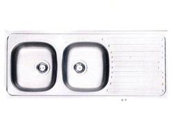 Fregadero de 2 Pozos para Sobreponer 120 x 50 cm de Acero Inoxidable Franke